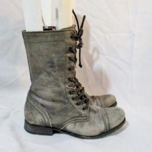 ALL-SAINTS SPITALFIELDS Leather Boot Captoe Militr